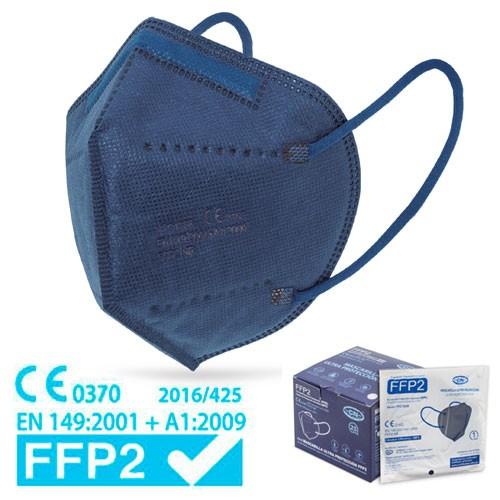 dunkelblaue FFP2 Maske