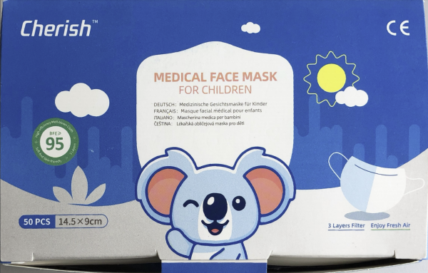Cherish Medical Face Mask Box - Top